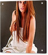 Young Woman With Towel Acrylic Print