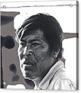 Young Yaqui Man New Pascua Arizona 1969 Acrylic Print