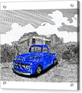 Your 1952 F 100 Pick Up In N M  Acrylic Print