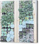 Your Garden Wall Acrylic Print