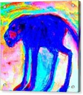 When Your Inner Dog Is Feeling Blue  Acrylic Print