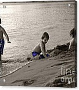 Youth At The Beach Acrylic Print