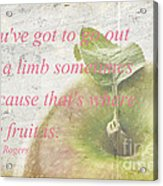 You've Got To Go Out On A Limb Acrylic Print