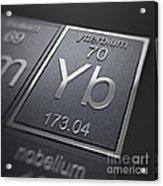 Ytterbium Chemical Element Acrylic Print