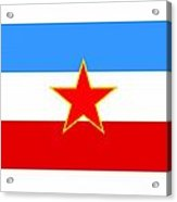 Yugoslavia Flag Acrylic Print
