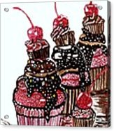 Yum Candy Cupcake Acrylic Print