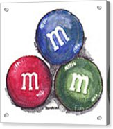 Yummy M And Ms Acrylic Print