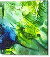 Yupo Blue Ice Acrylic Print