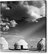Yurts Acrylic Print