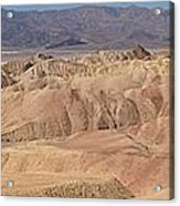 Zabriskie Point Panorama Acrylic Print