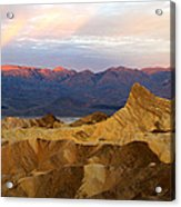 Zabriskie Point Sunrise Death Valley Acrylic Print