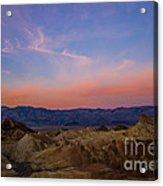 Zabriskie Point Sunrise Acrylic Print