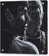 Zachary Quinto And Leonard Nimoy Acrylic Print