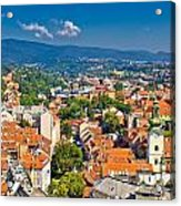 Zagreb Capital Of Croatia Aerial View Acrylic Print