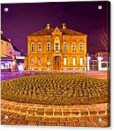 Zagreb Street Architecture Night Scene Acrylic Print