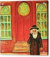Zaida's  Shul Acrylic Print