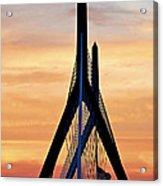 Zakim Bridge In Boston Acrylic Print by Elena Elisseeva