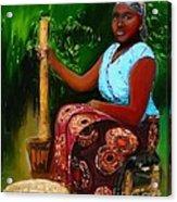 Zambia Woman Acrylic Print