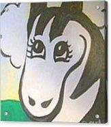 Zebe Zebra Acrylic Print by Lyn Vic
