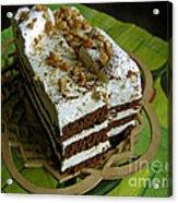 Zebra Cake Acrylic Print