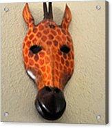 Zebra Head Mask Acrylic Print
