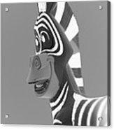 Zebra O Acrylic Print