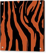 Zebra Print 003 Acrylic Print by Kenneth Feliciano
