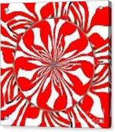Zebra Red Swirling Kaleidoscope  Acrylic Print