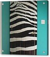 Zebra Stripe Mural - Door Number 2 Acrylic Print