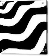 Zebra Waves Acrylic Print