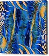Zebras Abstracted Acrylic Print