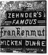 Zehnder's Black And White Acrylic Print