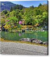 Zen And A Pond Acrylic Print