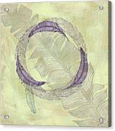 Zen Feather Circle I I I Acrylic Print