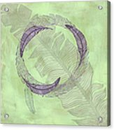 Zen Feather Circle I V Acrylic Print