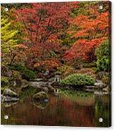 Zen Garden Reflected Acrylic Print