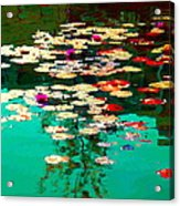 Zen Garden Water Lilies Pond Serenity And Beauty Lily Pads At The Lake Waterscene Art Carole Spandau Acrylic Print