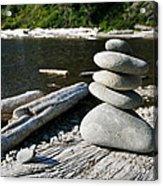 Zen Rocks Acrylic Print
