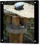 Zen Rocks In Balance Acrylic Print