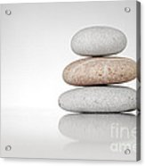 Zen Stones On White Acrylic Print