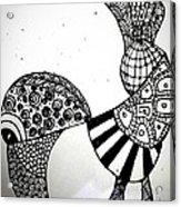 Zentangle Bird Acrylic Print
