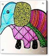 Zentangle Elephant Acrylic Print