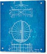 Zeppelin Navigable Balloon Patent Art 2 1899 Blueprint Acrylic Print
