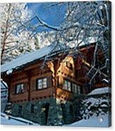 Zermatt Chalet Acrylic Print