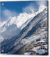 Zermatt Mountains Acrylic Print by Brian Jannsen