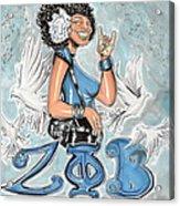 Zeta Phi Beta Sorority Inc Acrylic Print by Tu-Kwon Thomas