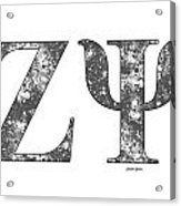 Zeta Psi - White Acrylic Print
