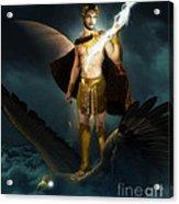 Zeus King Of The Gods Acrylic Print by Pixl Vixl