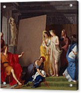 Zeuxis Choosing His Models For The Image Of Helen From Among The Girls Of Croton Acrylic Print