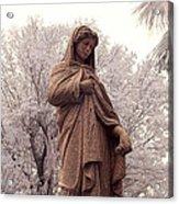 Ziba King Memorial Statue Front View Florida Usa Near Infrared Se Acrylic Print